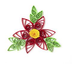 Illustration fleur papier roulé