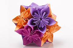 Illustration fleur papier